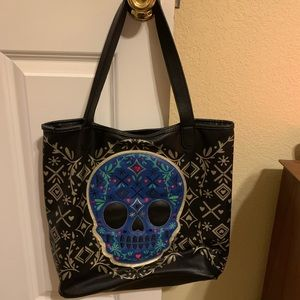Loungefly Sugar Skull Tote and Matching Wallet